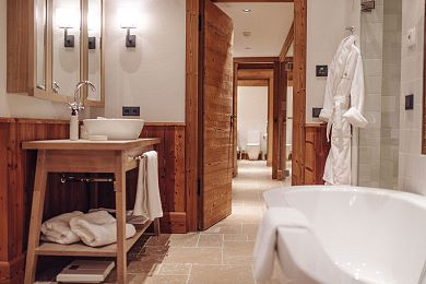 Cuddly bathrobes awaits you in the private spa
